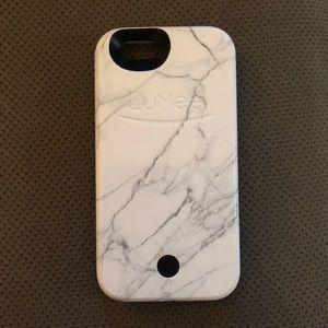 White Marble LuMee iPhone 6s Case